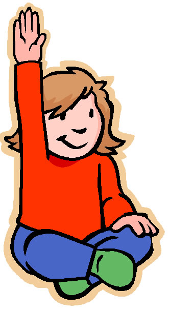 Child Raising Hand Clipart